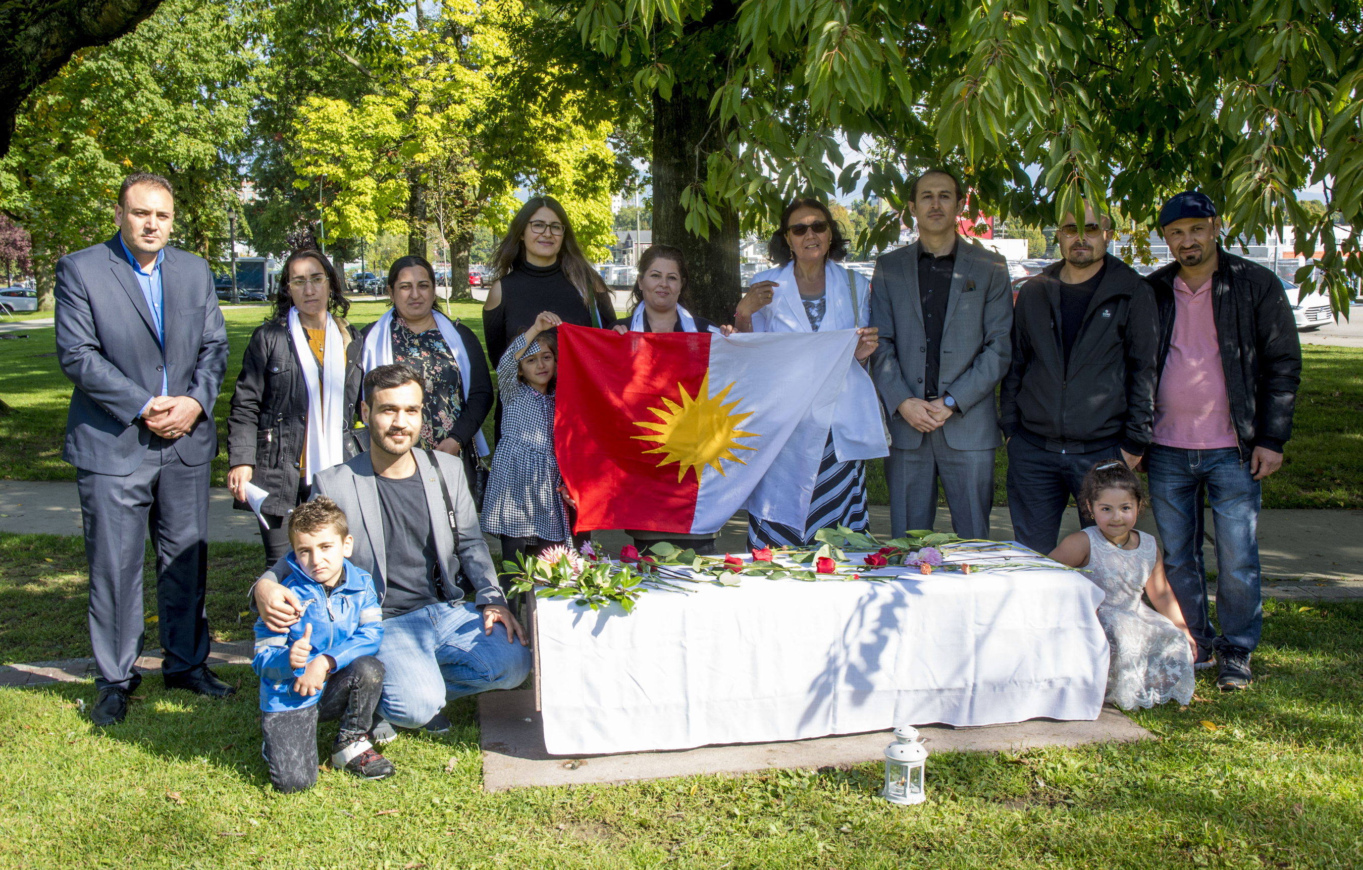 Yazidi families from BC attend Ceremony and Press Conference