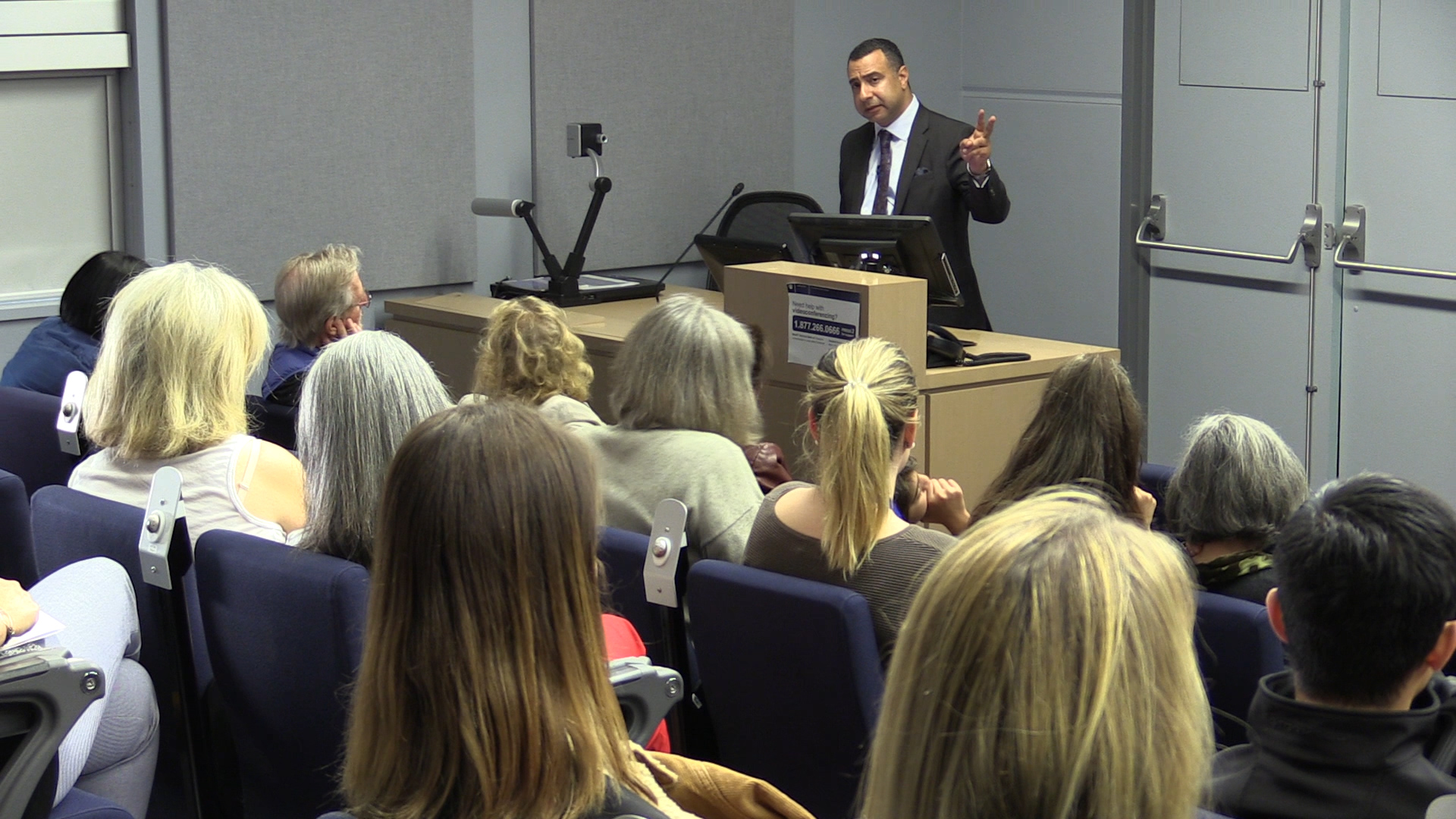 Majed El Shafie discusses trauma care for Yazidi women and girls who are survivors of ISIS torture at the Women's Hospital, Vancouver, Sept 28, 2018